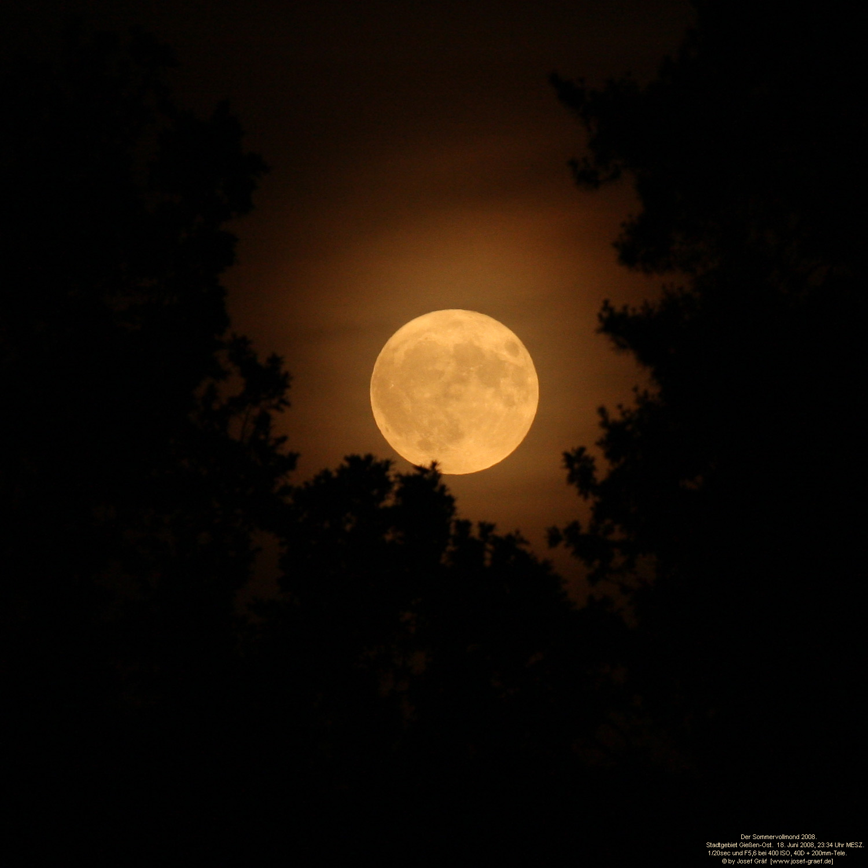 Mond Und Sterne Wallpaper Der Mond Und Die